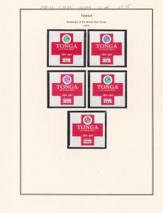 Tonga # 258-262, C78-82, CO34-36, Red Cross Centenary, NH, 1/2 Cat.