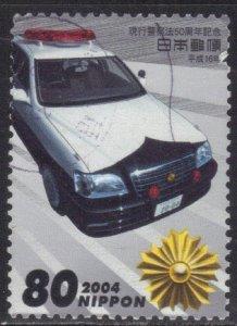 JAPAN SC# 2888 USED 80y 2004  POLICE CAR SEE SCAN