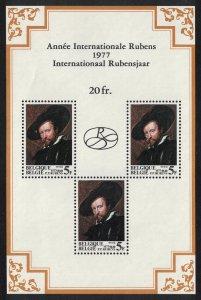 Belgium 400th Birth Anniversary of Peter Paul Rubens MS 1977 MNH SG#MS2498
