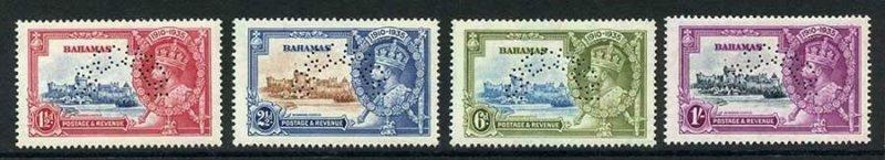 Bahamas SG141/144 1935 Silver Jubilee Specimen Set SUPERB M/M