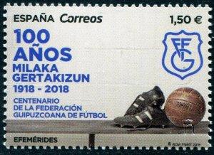 HERRICKSTAMP NEW ISSUES SPAIN Sc.# 4344 Gipuzkoa Soccer Federation