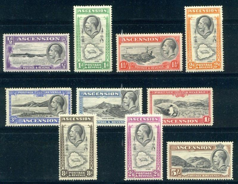 ASCENSION #23-32 Mint - 1934 K G V Pictorials