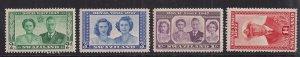 Swaziland 1947 KGV1 Set of 4 Royal Wedding stamps Umm SG 42 - 45 ( D994 )