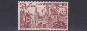 FRENCH COLONIES GUADELOUPE  1946  50F  PURPLE BROWN     MH