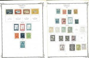 Paraguay 1907-1945 M & U on a MIx of Remaindered Pages. Mpstly Airmails.