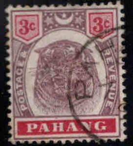 MALAYA-Pahang Scott 14 Used Tiger stamp nice cancel