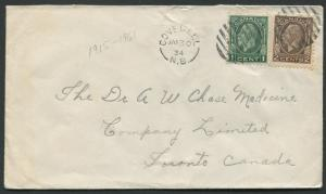NEW BRUNSWICK SPLIT RING TOWN CANCEL COVER COVEDELL