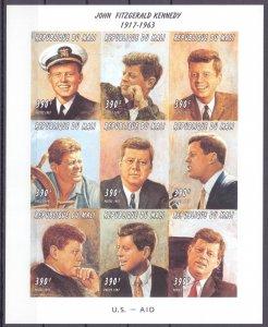 Mali. 1997. 1808B-16B. Kennedy. MNH.