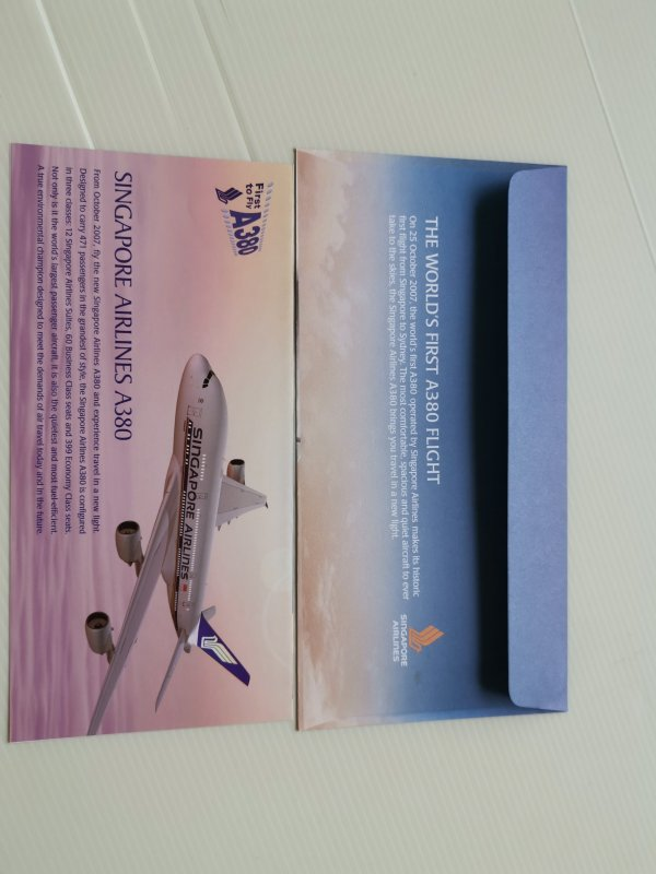 SINGAPORE-2007-FDC-SINGAPORE-AIRLINE-A380-IN-EXCELLENT