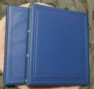 1 Padded Luxury 22 RING Binders Blue color,  No case