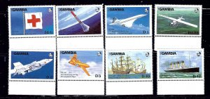 Gambia 739-46 MNH 1988 Anniversaries and Events    (ap1449)