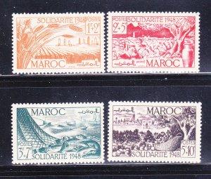 French Morocco B38-B41 Set MH Views