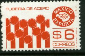 MEXICO Exporta 1121a, $6P Pipes Perf 11 1/2 Fluor Paper 6 MNH