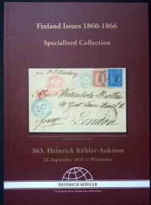 Auction catalogue FINLAND ISSUES 1860-1866 Specialised Classic Stamps Covers