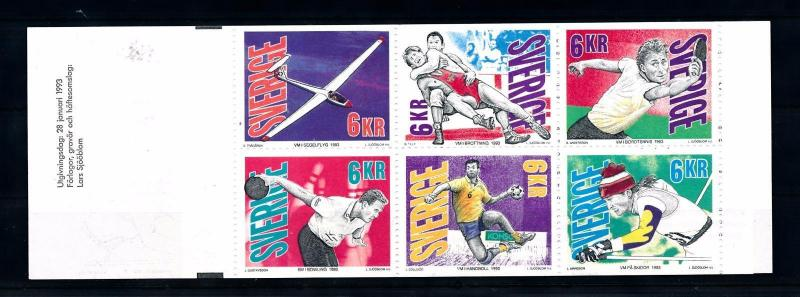 [44756] Sweden 1993 Sports Wrestling Handball Tabletennis MNH Booklet