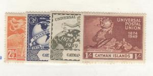 CAYMAN ISLANDS # 118-121 VF-MH UNIVERSAL POSTAL UNION