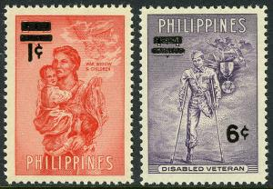 Philippines MNH 648-9 Disabled Soldier & Widow