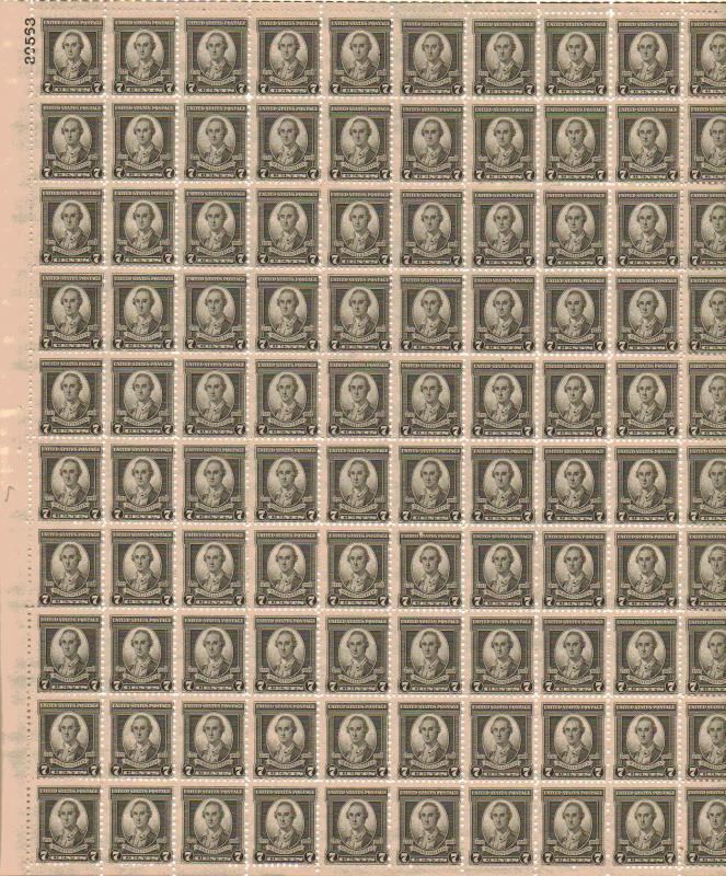 US 712 - 7¢ Washington Unused