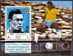 1970Yemen (Arab R. YAR )1106/B1241970 World championship on football of Mexic