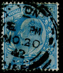 SG284 SPEC M18(3), 2½d dull blue, USED. Cat £15.