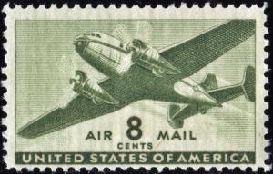 SC#C26 8¢ Twin-Motored Transport Single (1944) MNH