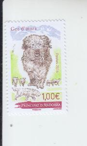 2016 Fr Andorra Catalan Sheepdog  (Scott 767) MNH