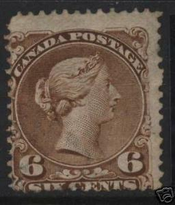 Canada #27a Used Barely Cancelled