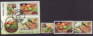 New Zealand-Scott#B169-72a-used set & sheet-Fruits & Vegetab