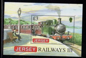 Jersey Sc 1379 2009 £ 3 Steam Engine stamp sheet mint NH