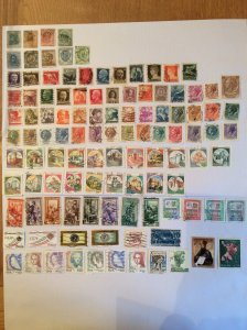 Italy 100+ stamps - Lot H