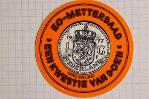 Netherlands Crown seal 300 Giro 1977 1G Indeed a Question of Doing? Poster Stamp