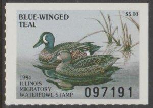 U.S. Scott #10 Illinois - State Duck Stamp - Mint NH Single