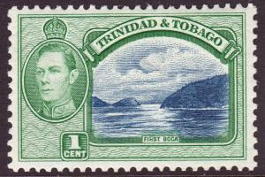 Trinidad & Tobago KGVI 1938 1c Blue Green SG246 Mint Lightly Hinged