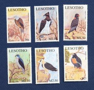LESOTHO - Scott  1294-1299 - FVF MNH - BIRDS - 2001