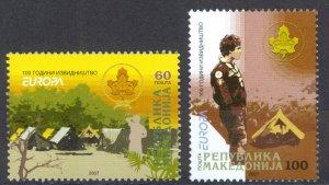 Macedonia Sc# 409-410 MNH 2007 Europa