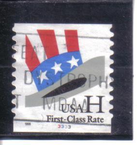 3265 - (.33) H-Hat pnc1 pl# 3333 used f-vf.