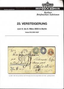 Kohler: Sale # 23  -  23.Versteigerung, Heinrich Kohler M...