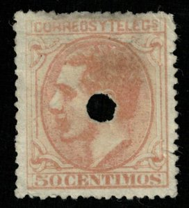 King Alfonso XII, 50 Centimos, Spain, 1879, (3802-т)