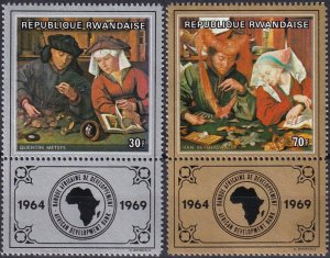 Rwanda #295-6  MNH CV $3.50 (Z1282)