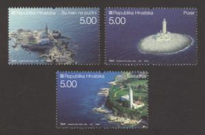 Croatia Sc# 657-9 MNH Lighthouses 2007