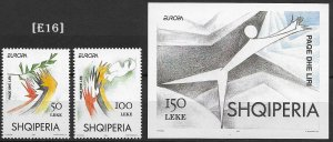 [E16] Albania 1995 Europa, Peace and freedom,Mi 2556-57, GimNr. 2712-13, MNH