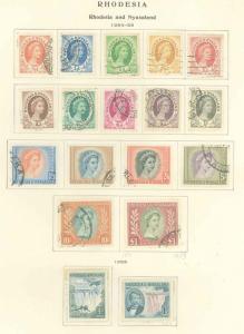 Rhodesia & Nyasaland 141-157 Used VF (16-7 MNH)