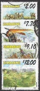 pb3375 Zimbabwe 824, 826-28 used, cv 2.90 bin $1.30