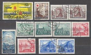 COLLECTION LOT # 3695 GERMANY DDR 13 STAMPS1953+ CLEARANCE CV+$20