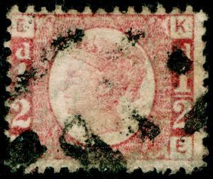 SG48, ½d rose-red PLATE 14, USED. Cat £22. KE