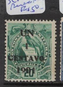 Guatemala SC 105 Double Surcharge MNG (5dqn)