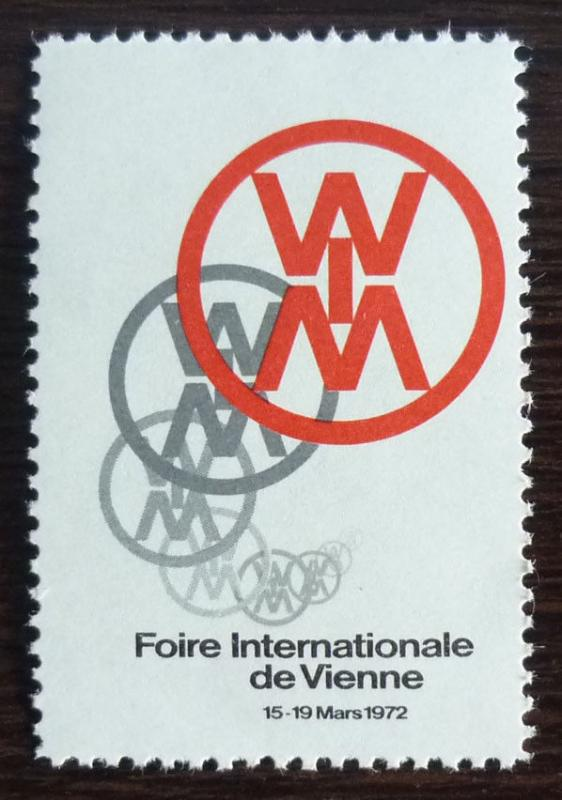 Cinderella J 1972 Austria-wien-poster Stamp -international Fair-messe mnh