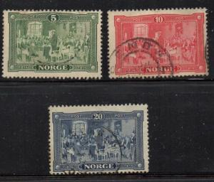 Norway Sc 96-8 1914 Constitutional Assembly stamp set used