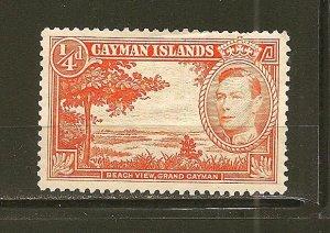 Cayman Islands 100 Beach View Mint Hinged