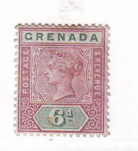 Grenada Sc 44 1895 6d Victoria stamp mint
